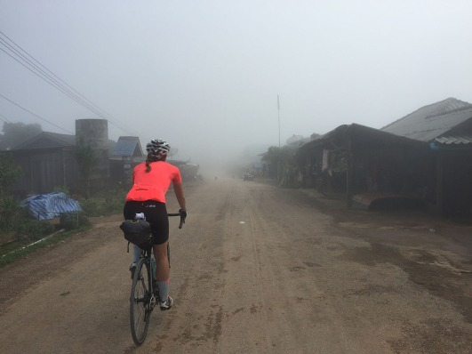 The people in these villages probably almost never see any cyclists or tourists - let alone a female foreigner on a bike! Especially with a dead-end road...