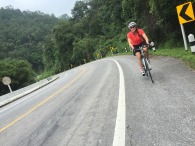 Good quality tarmac with rolling hills made this trip quite enjoyable