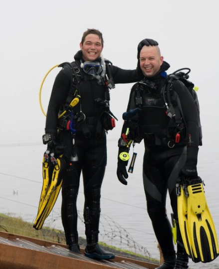 Me and Martin in Zeeland after a nice dive