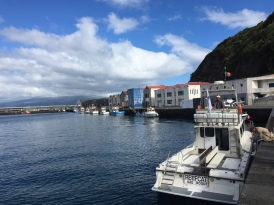 Picking up the Danish group in Faial
