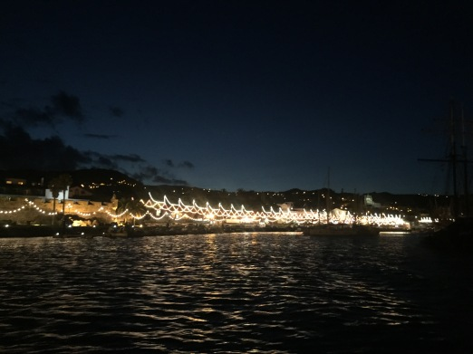 Festa in Horta! A great welcome in the port with all the lights :)